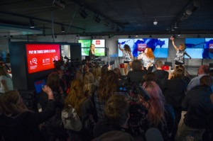 Katy B performs at an exclusive event at Argos' digital store on Old St